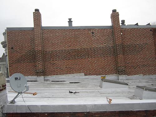 Example of roof repair