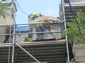 Man on scaffolding