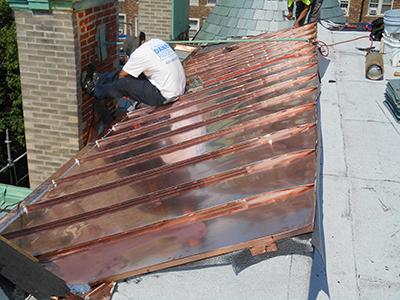 Sloped Copper Roof