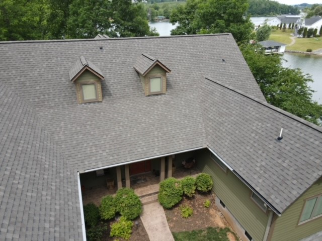 New residential roof installation